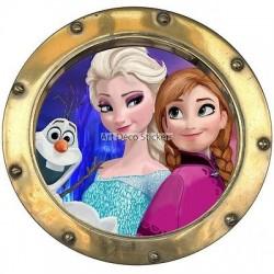 Sticker hublot enfant La Reine des Neiges 9543