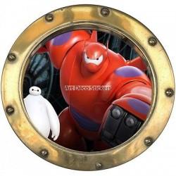 Sticker hublot enfant Big Héros 9536