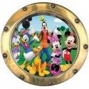 Sticker hublot enfant La Bande a Mickey 9531