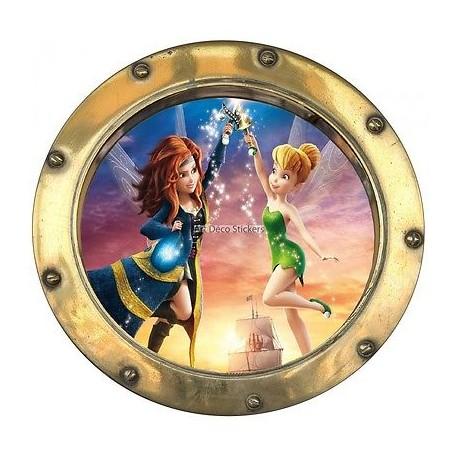 Sticker hublot enfant La Fée clochette 9530