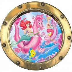 Sticker hublot enfant Ariel 9515