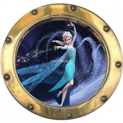Sticker hublot enfant La Reine des Neiges 9517