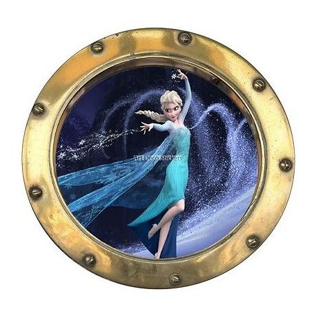 Sticker hublot enfant La Reine des Neiges 9517