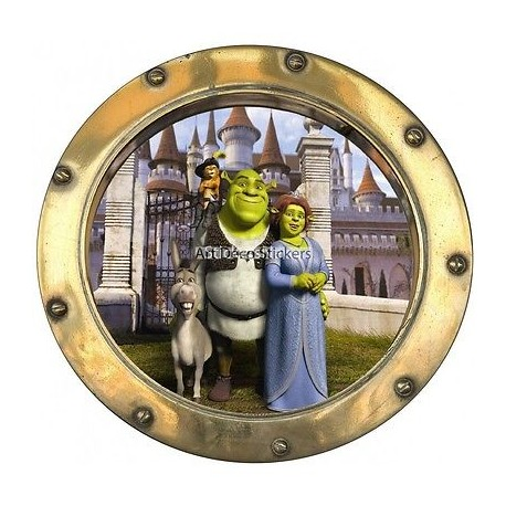 Sticker hublot enfant Shrek 9526