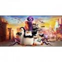 Stickers chambre d'enfant tête de lit Les Pingouins de Madagascar réf 8504