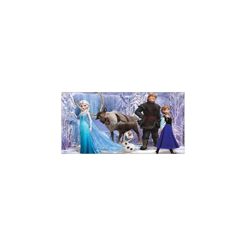 stickers chambre d 39 enfant t te de lit la reine des neiges r f 8500 stickers muraux enfant. Black Bedroom Furniture Sets. Home Design Ideas