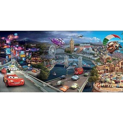 Stickersnews Stickers chambre d enfant t/ête de lit CARS 2 r/éf 8482 Dimensions 30x15cm