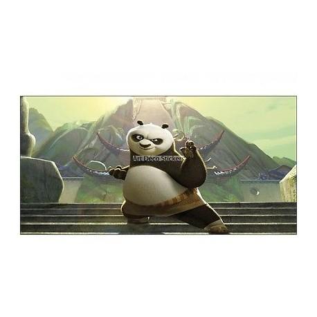 Stickers chambre d'enfant tête de lit Kung Fu Panda réf 8478