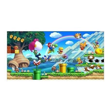 Stickers chambre d'enfant tête de lit Mario et ses amis réf 8476