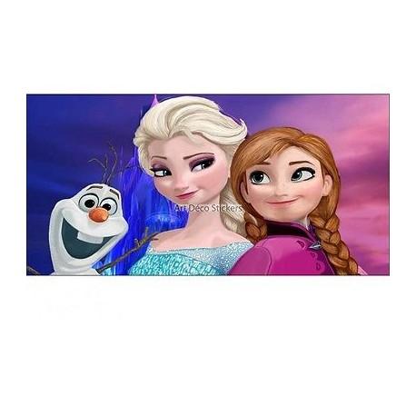 Stickers chambre d'enfant tête de lit La reine des Neiges réf 8471