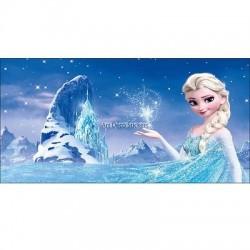 Stickers chambre d'enfant tête de lit La reine des Neiges réf 8470