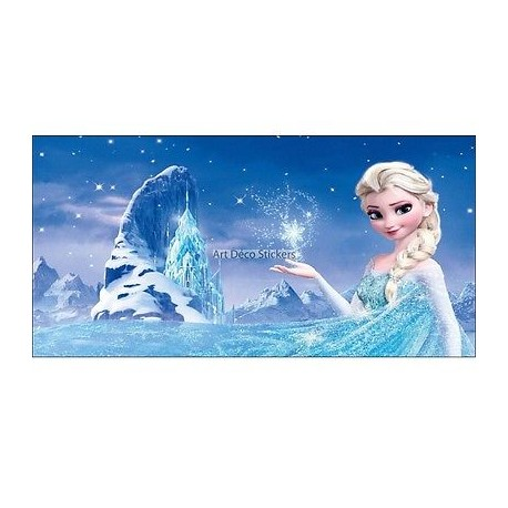 stickers chambre d 39 enfant t te de lit la reine des neiges r f 8470 stickers muraux enfant. Black Bedroom Furniture Sets. Home Design Ideas