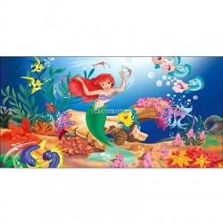 Stickers chambre d'enfant tête de lit La petite sirene réf 8465