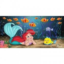 Stickers chambre d'enfant tête de lit La petite sirene réf 8464