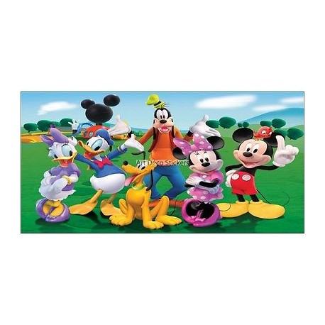 Stickers chambre d'enfant tête de lit Mickey et sa bande réf 8462