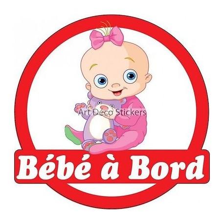Sticker autocollant enfant Bébé à bord Bébé réf 3576