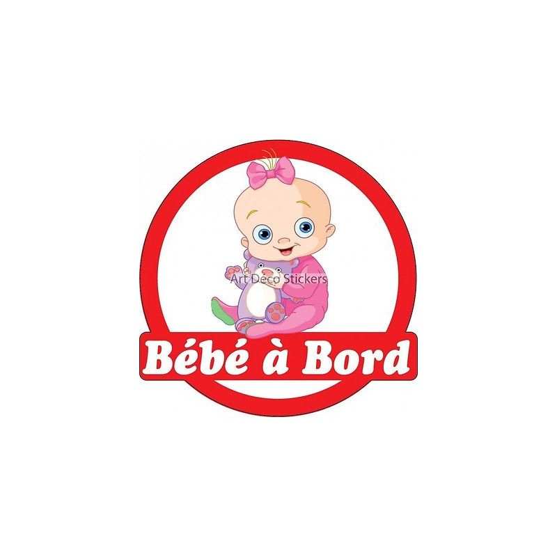 sticker autocollant enfant b b bord b b 16x16cm r f 3576 stickers muraux enfant. Black Bedroom Furniture Sets. Home Design Ideas