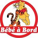 Sticker autocollant enfant Bébé à bord Winnie 16x16cm réf 3571