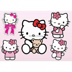 Stickers enfant planche de stickers Hello Kitty réf 9540