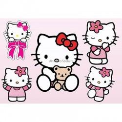 Stickers enfant planche de stickers Hello Kitty réf 9540