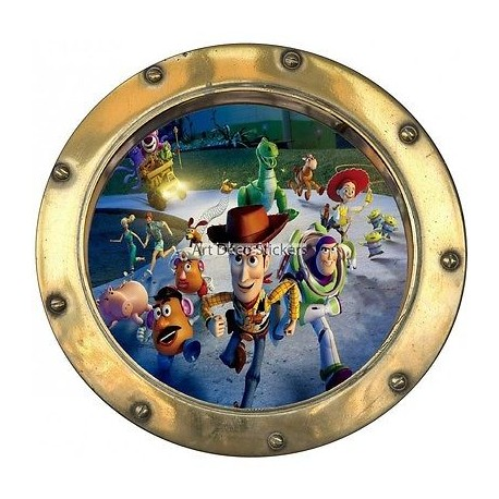 Sticker hublot enfant Toy Story 9527