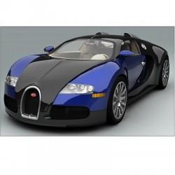Sticker autocollant Voiture Bugatti Veyron Bleu Sport 130x83 cm Bugatti Veyron B