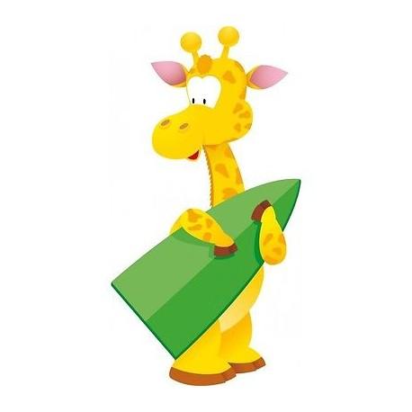Sticker mural enfant bébé Girafe 052