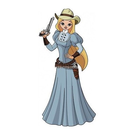Sticker enfant femme Cow Boy 3754