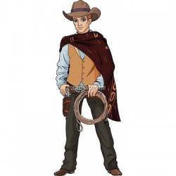 Sticker enfant Cow Boy Lasso 3755