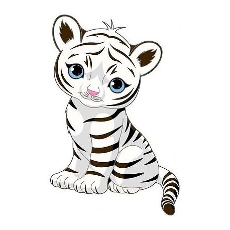 Sticker enfant décoration murale Tigre Tigrou 985