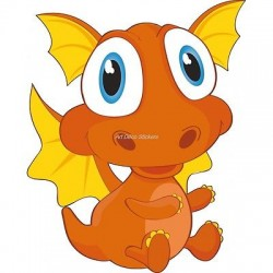 Sticker enfant Bébé dragon 916