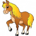 Sticker enfant Cheval 922