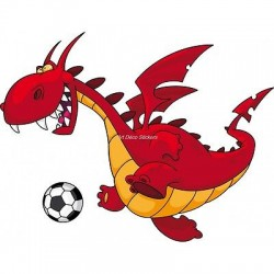 Sticker enfant Dragon foot 927