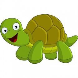 Stickers enfant animaux de la ferme stickers muraux enfant - Image tortue rigolote ...