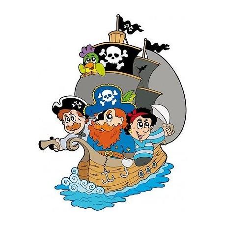 Sticker enfant Bateau et Pirates Bateau et Pirates