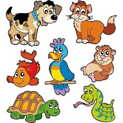 Sticker enfant, stickers animaux E656