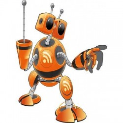 Sticker enfant Robot E652