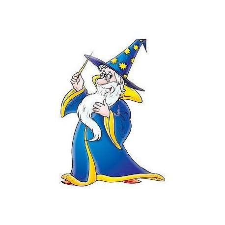sticker Autocollant enfant Magicien E070