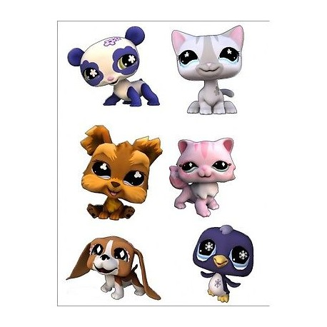 sticker Autocollant enfant Littlest Pet Shop E068