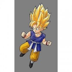 sticker Autocollant enfant Goku-GT-SS E058