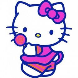 sticker Autocollant enfant hello Kitty E056