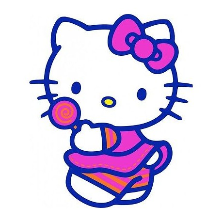 sticker Autocollant enfant hello Kitty E056
