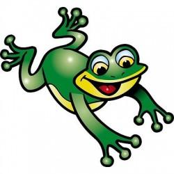 sticker Autocollant enfant grenouille E052