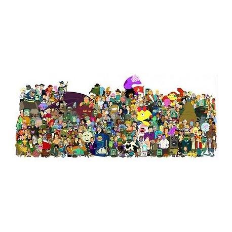 sticker Autocollant enfant futurama-cast E046