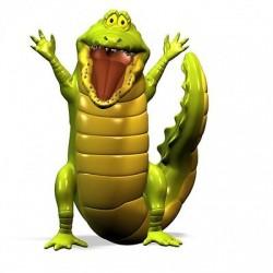 sticker Autocollant enfant Crocodile E036