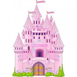 sticker enfant Chateau Princesse E032