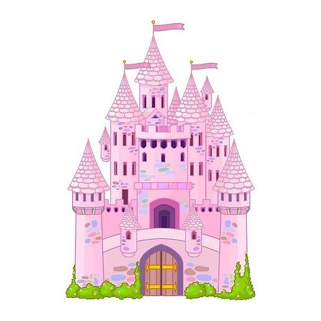 sticker enfant Chateau Princesse E032