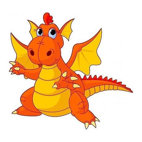 Sticker mural enfant Gentil dragon 208