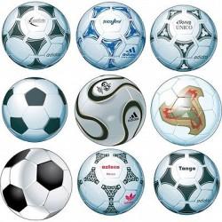 Stickers 9 Ballons de Foot 25x25cm Foot 25x25cm