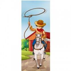 Papier peint porte enfant Cow Boy 1730